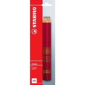 CRAYON GRAPHITE STABILO  6 Crayons Graphites Swano -HB- Bout gomme