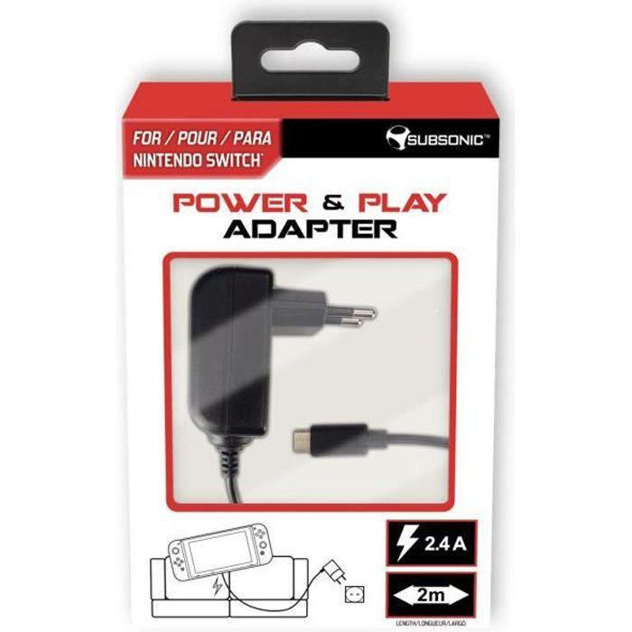 Subsonic - Chargeur secteur Type C pour Nintendo Switch Console et Accessoires - Power & Play adapte