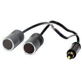 Prise DIN 12A + 2 Allume-cigares 12/24V + Câble