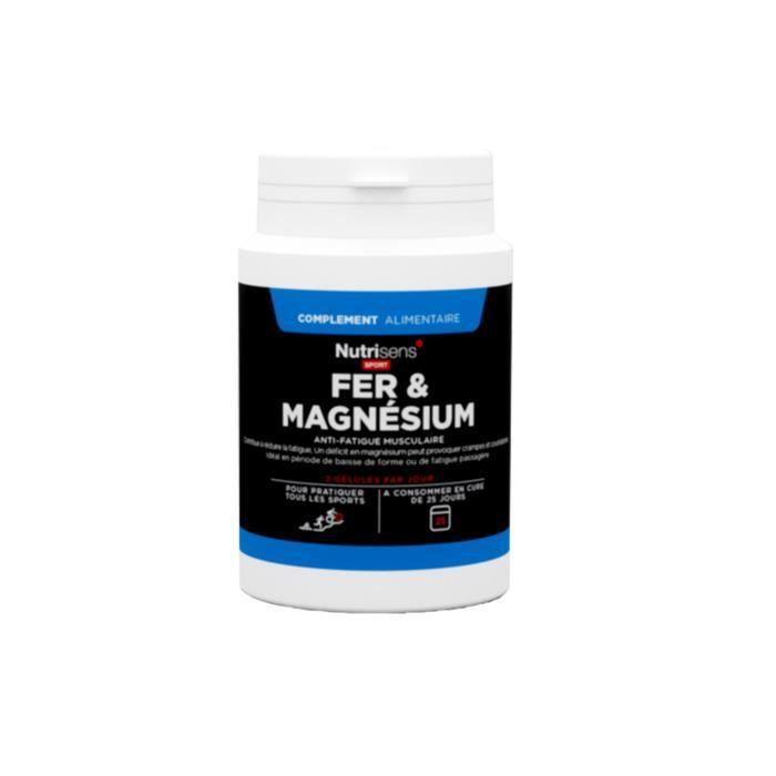 NUTRISENS Complément alimentaire - Boîte de 50 comprimés Fer et Magnésium