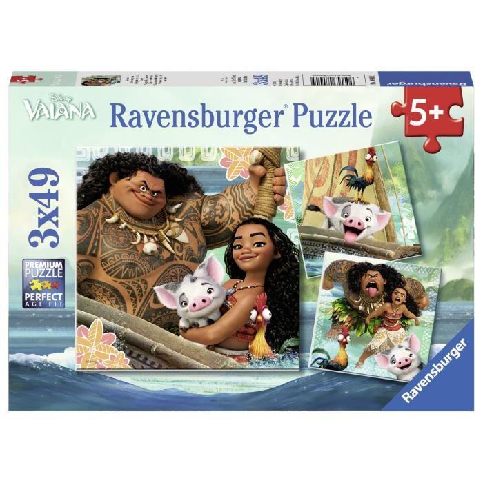 VAIANA Puzzle 3x49 pcs - Disney