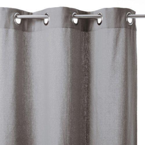 Rideau coton gris 260x140 cm - Achat / Vente rideau Coton - Cdiscount