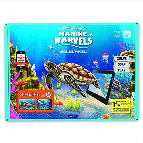 CASQUE RÉALITÉ VIRTUELLE Edge Marine Marvels Réalité Augmentée Jigsaw Puzzl