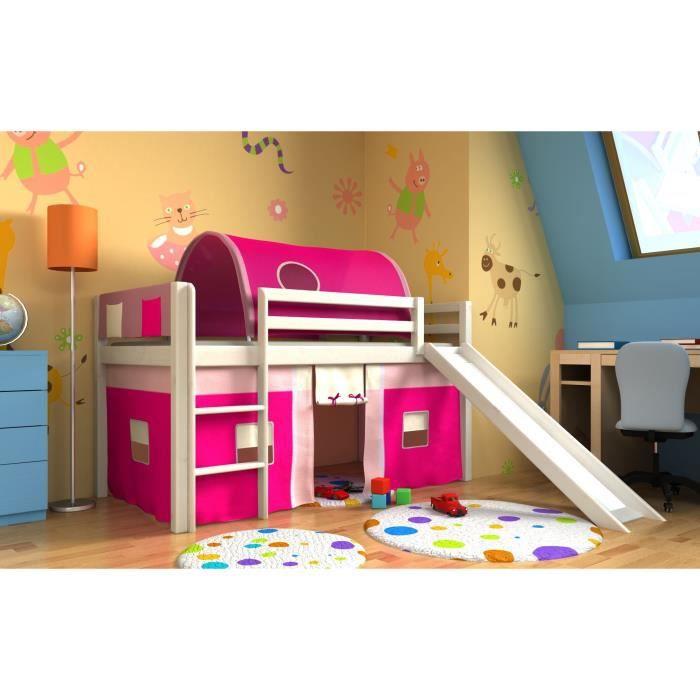 lit fille avec toboggan sommier et matelas achat vente lit complet lit fille avec toboggan. Black Bedroom Furniture Sets. Home Design Ideas