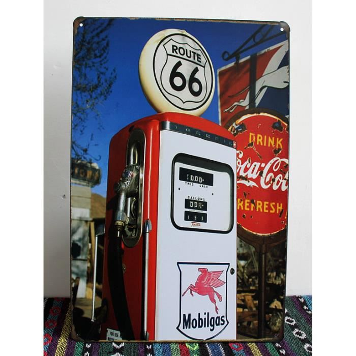 ROUTE 66 Station d essence Plaques anciennes Signes Décor mural pour