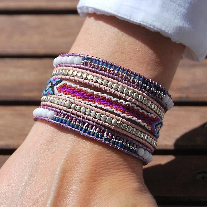 bracelet perle plusieurs rangs