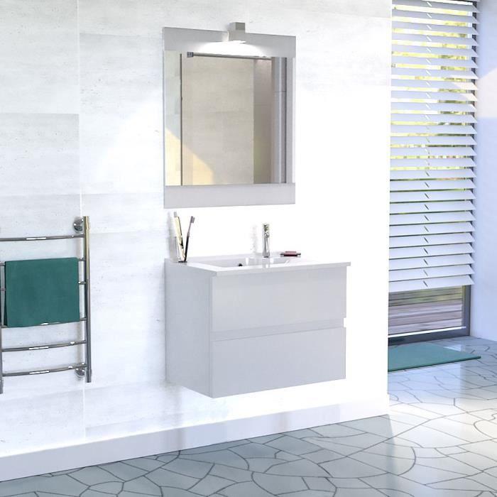 meubles salle de bain complet en 80cm achat vente pas cher. Black Bedroom Furniture Sets. Home Design Ideas