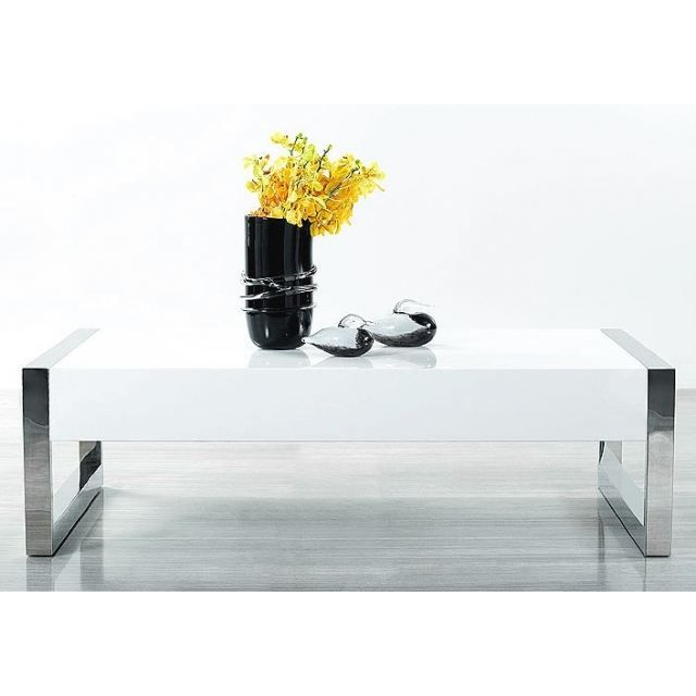 Vente Table Achat Laquee Basse Victoria Blanc vbYy76fg