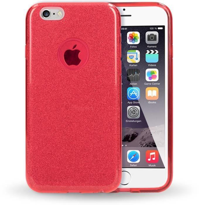 iphone 6 coque silicone glitter
