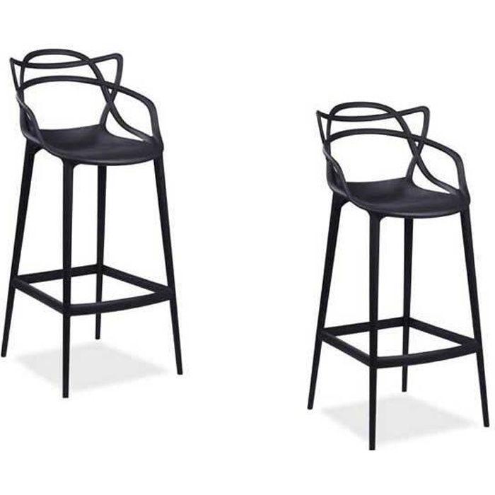CHAISE Master Lot de 2 chaises blanches inspirée Bureau S