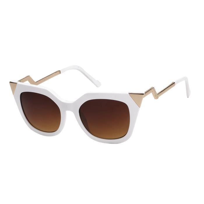 marron 7852 yeux 7852 chat futuriste Lunettes blanc A de verre vzqAwqI7