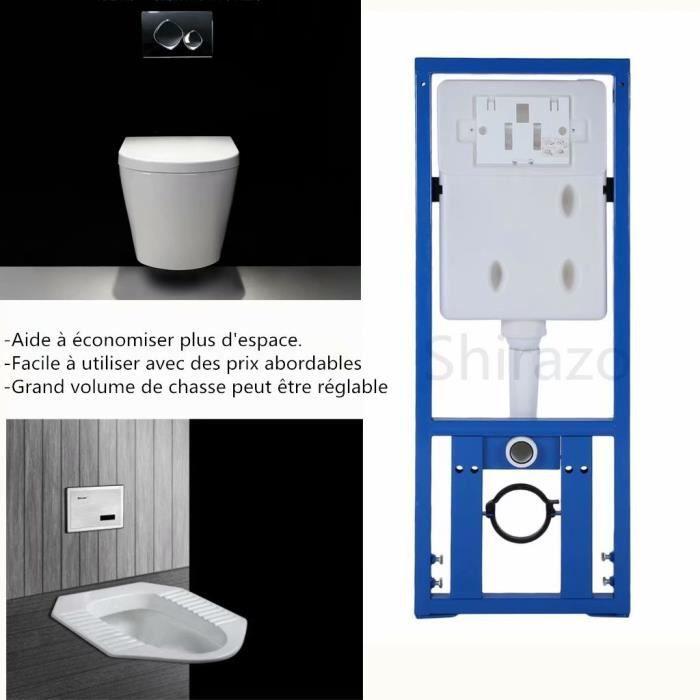YXN ❤ Réservoir Caché Toilette Réservoir À Chasse Fixé au mur ...