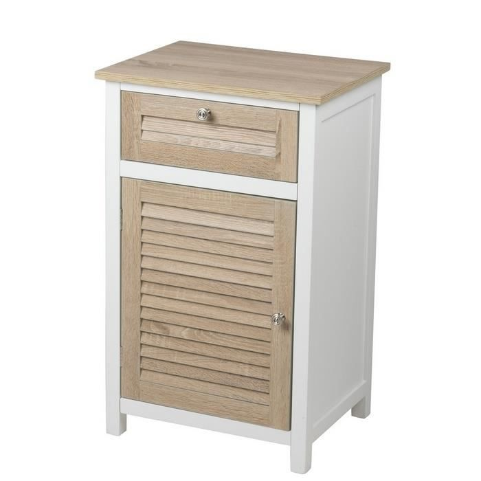 meuble de rangement 1 porte 1 tiroir achat vente commode de chambre meuble de rangement 1. Black Bedroom Furniture Sets. Home Design Ideas