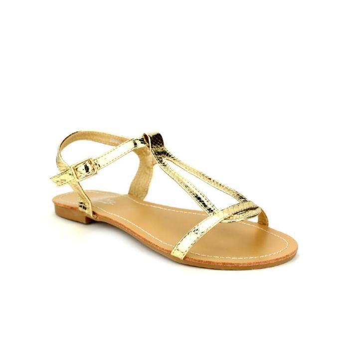 sandale - nu-pieds, Sandales Doré Chaussures Femme, Cendriyon