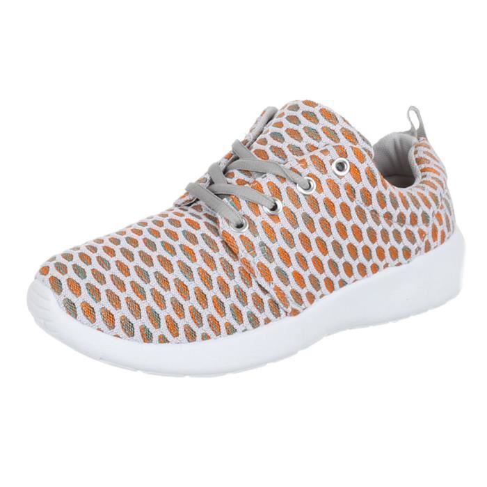 femmes chaussures Loisirs Chaussures Sneakers blanc or 36 eRIIFvS