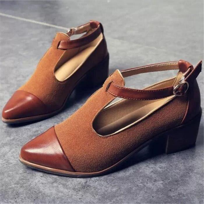Hauts Couleur Qualit Doux Mode Escarpin noir Extravagant Chaussure 39 Talons Meilleure 35 De Confortable Classique Femmes Escarpins Plus Marron 8tq6CwW