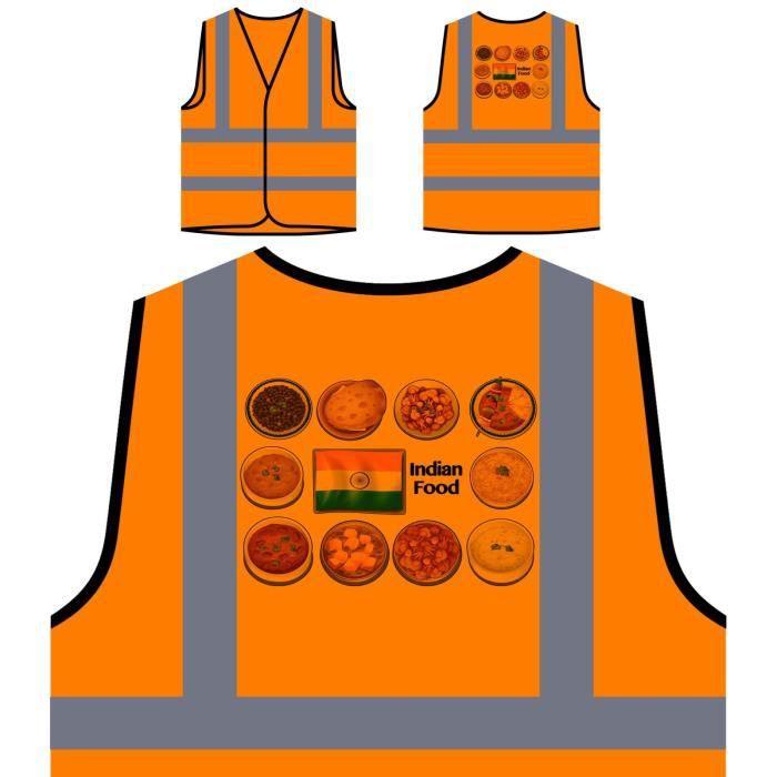 Veste de protection orange personnalisée à haute visibilité -Cuisine ...