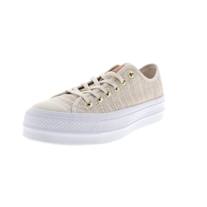 5b8f07e9662c4 Converse Women's Ctas Lift Ox Driftwood-white Trainers 3GVNR6 Taille-38