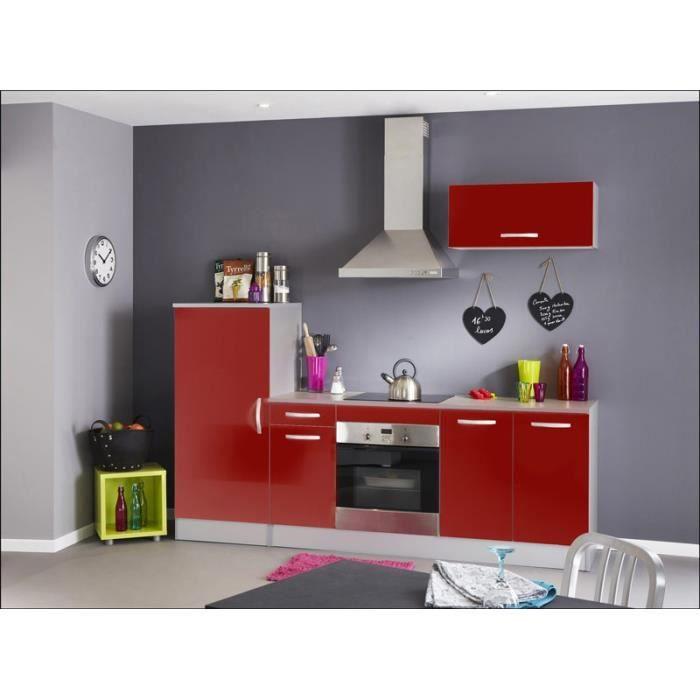 cuisine equipee rouge - achat / vente cuisine equipee rouge pas