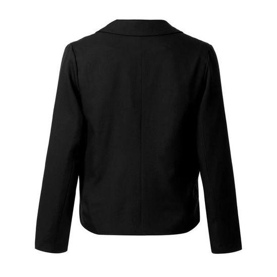 Couleur Unie De Veste Longues Manches Mode Femmes Hauts Manteau Automne Qe4311 aqEnZ