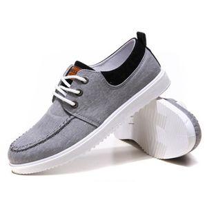 Chaussures En Toile Hommes Basses Quatre Saisons Durable XX-XZ116Noir39 hs9XHr2ans