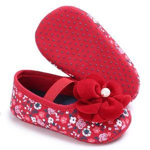BOTTE Bébé Bébé Fleur Imprimé Crèche Chaussures Doux Sole Anti-slip Sneakers@RougeHM G61EN47
