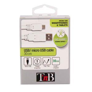 TNB Câble USB micro USB plat 0.3m