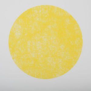 Set de table rond jaune achat vente set de table rond for Sets de table ronds