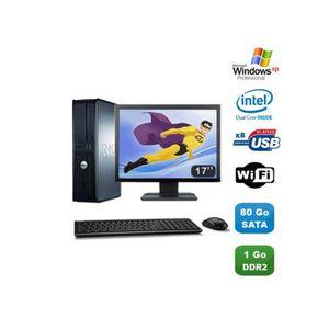 UNITÉ CENTRALE + ÉCRAN Lot PC DELL Optiplex 760 DT Intel E5200 2,5Ghz 1Go
