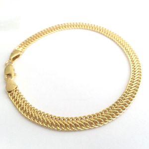 BRACELET - GOURMETTE DIAMANTLY Bracelet maille huit or 9 carats - 18 cm
