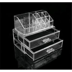 TROUSSE DE MAQUILLAGE Acrylique Organisateur de Cosmétique Boîte de Rang