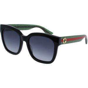 e5f249afdc0877 LUNETTES DE SOLEIL Lunettes de soleil Gucci 0034 S Noir Vert Gris Dég