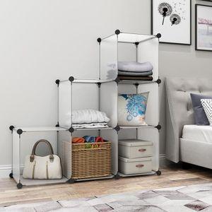 armoire de chambre langria 6 cubes armoires tagres plastique meuble