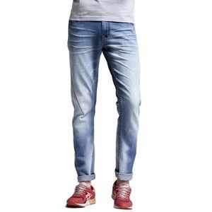 JEANS Jeans Homme en Coton Slim Fit Pantalon Casual Bleu