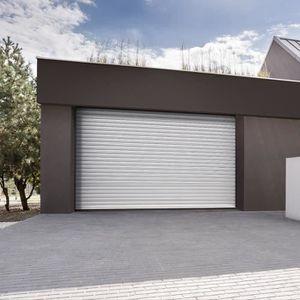 PORTE DE GARAGE Porte de garage blanche enroulable motorisée Somfy