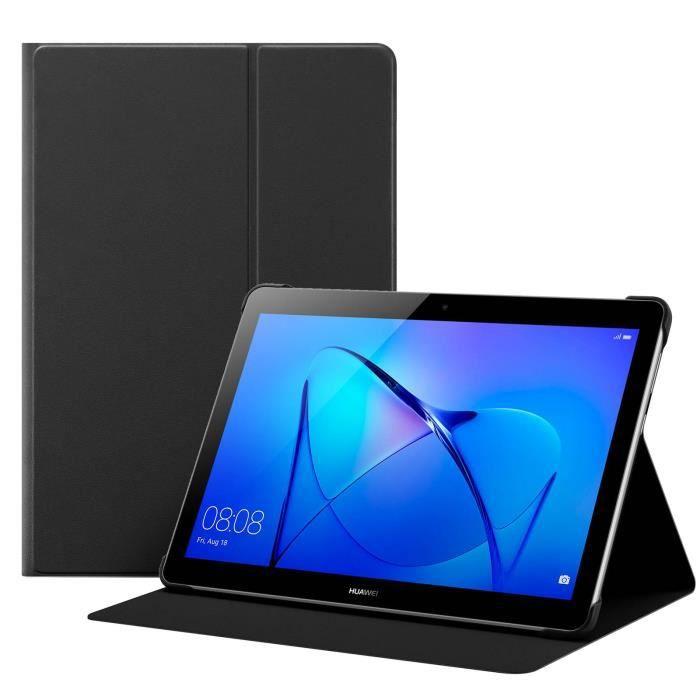 Housse Huawei MediaPad T3 10 Etui Clapet Flip Cover Original Noir Fonction Stand