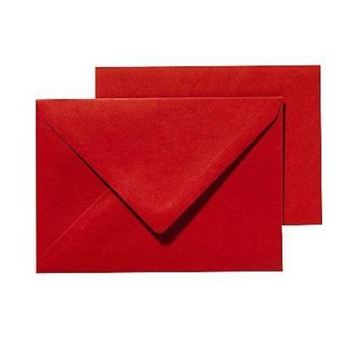 PANDURO Pack Basic cartes et enveloppes A6/C6 Rouge - 10 cartes pré-pliées (105x148), poids 240 g - 10 enveloppes
