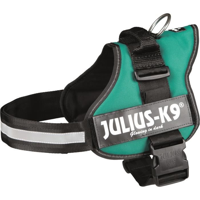 Harnais Power Julius-K9 - 1 - L : 66-85 cm-50 mm - Vert - Pour chien