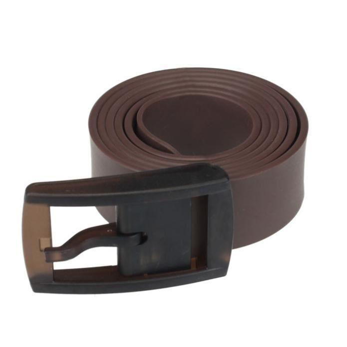 Hommes femmes femme unisexe lisse en caoutchouc de silicone ceinture ... 13eece1b3a9