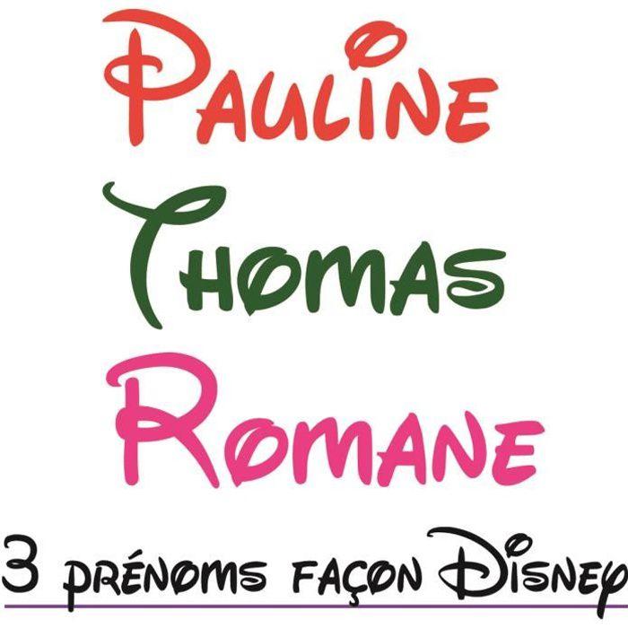 Stickers personnalis s vos pr noms criture disney achat vente stickers cdiscount - Lettre disney ...