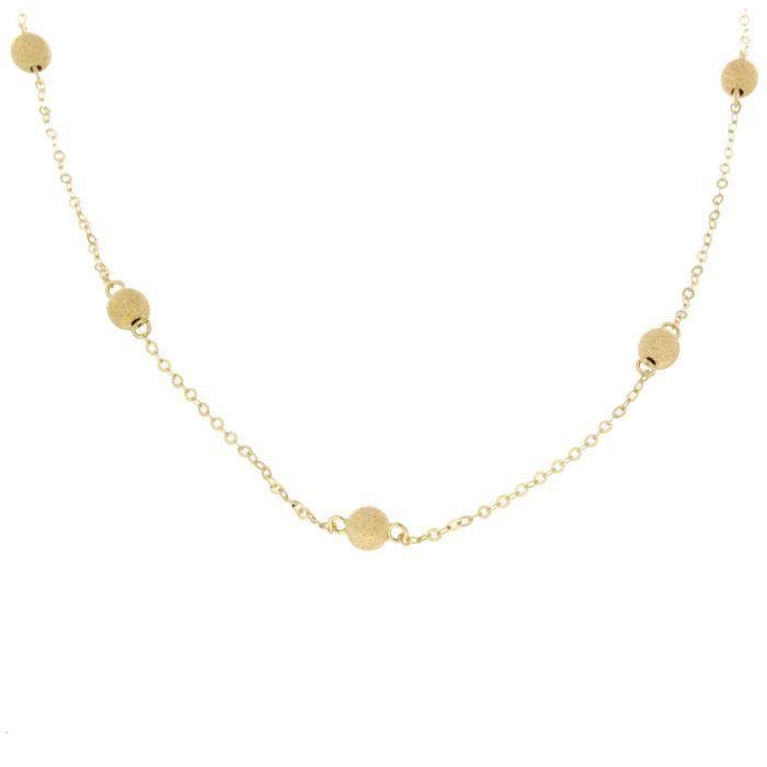 parure collier et bracelet boule en or jaune 18 carats. Black Bedroom Furniture Sets. Home Design Ideas