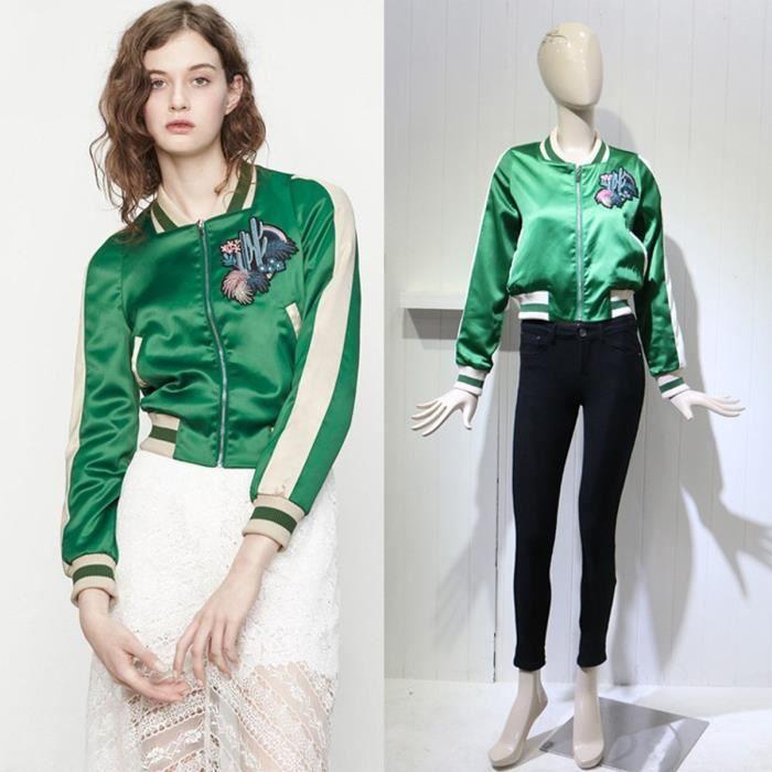 Veste bomber femme vert