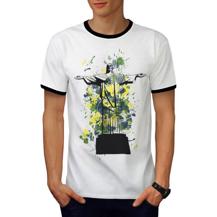 shirt S dos Brésil Christ Brésil le Rédempteur Men Rio T 2XL Cqy8X