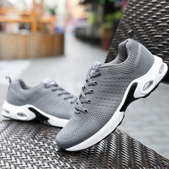 Basket Sneakers Lacets Pour De En Femme Chaussures Sport Homme Mesh wOA808TnU