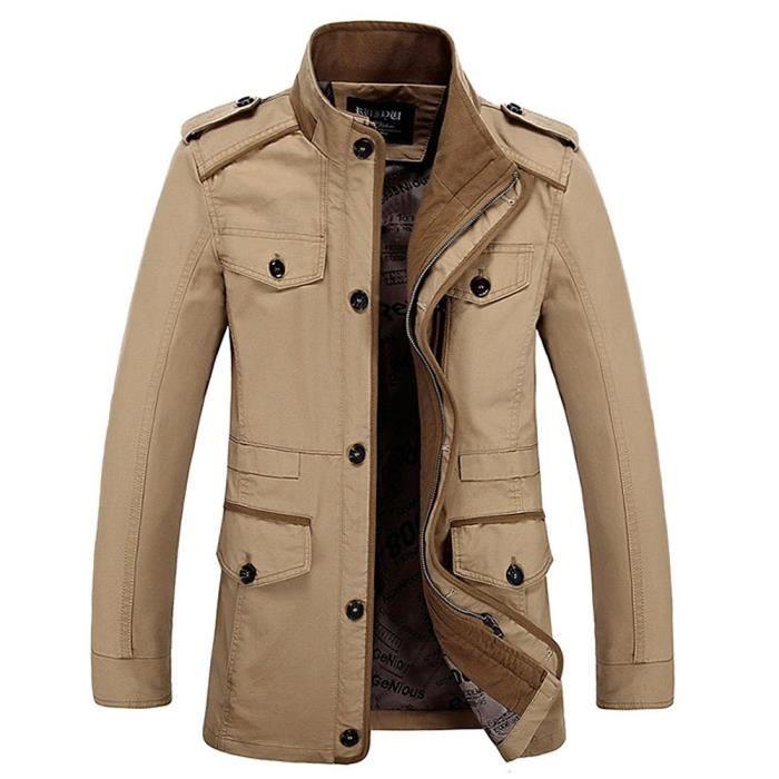 Jacket Veste Fit Pour L'air Slim Manches Hommes De Militaire Armée OqaFxwYvTq