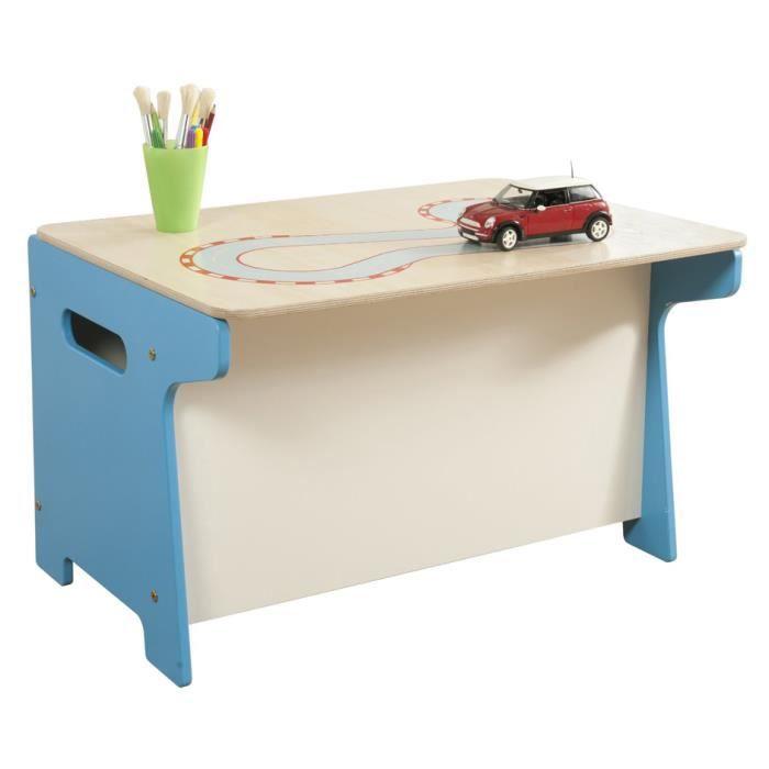 coffre jouets et bureau motif circuit de cour achat vente coffre jouets 6037657107046. Black Bedroom Furniture Sets. Home Design Ideas