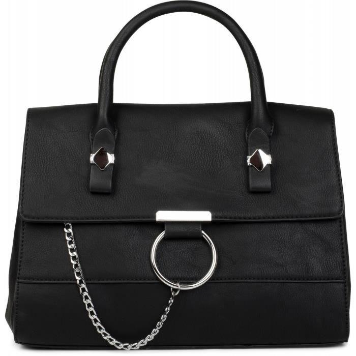 2e22bd8ac0 sac à bandoulière cartable, modèle double teinte avec anneau en métal et  chaîne, sac à main, sac, femme 02012125