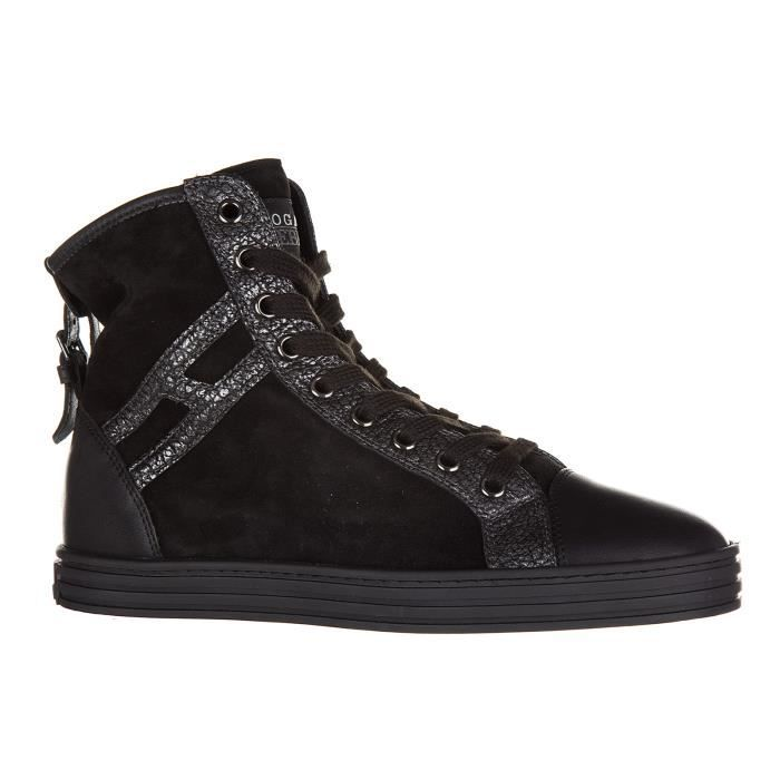 Chaussures baskets sneakers hautes femme en daim r182 allacciato cinturino Hogan Rebel