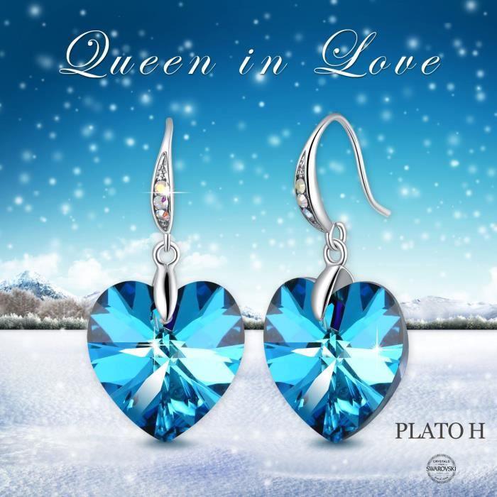 swarovski elets cristal pour femmes pour toujours amour coeur forme stud boucles doreilles mode bijoux valentine DZJVC
