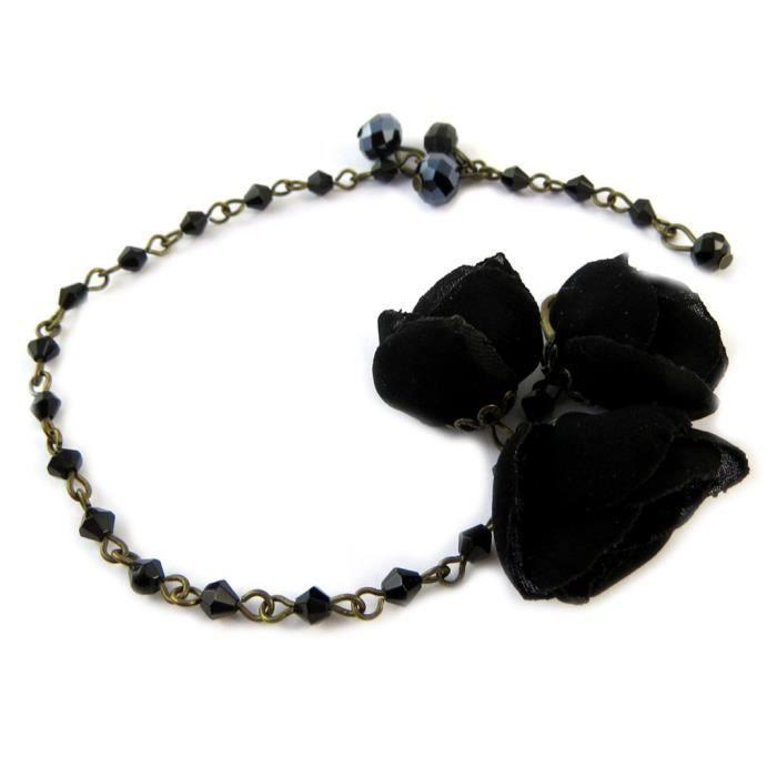 Bracelet artisanal Les Antoinettes noir (fait main)... [P0804]